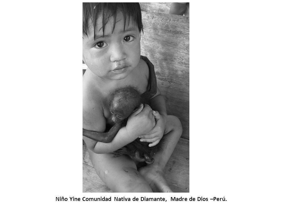 Niño Yine Comunidad Nativa de Diamante, Madre de Dios –Perú.
