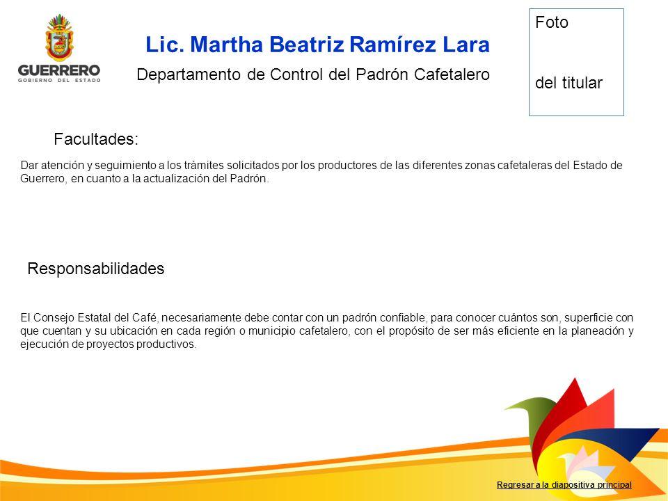 Lic. Martha Beatriz Ramírez Lara