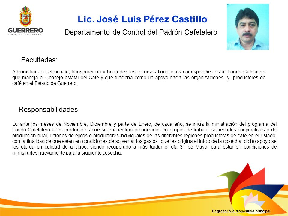 Lic. José Luis Pérez Castillo