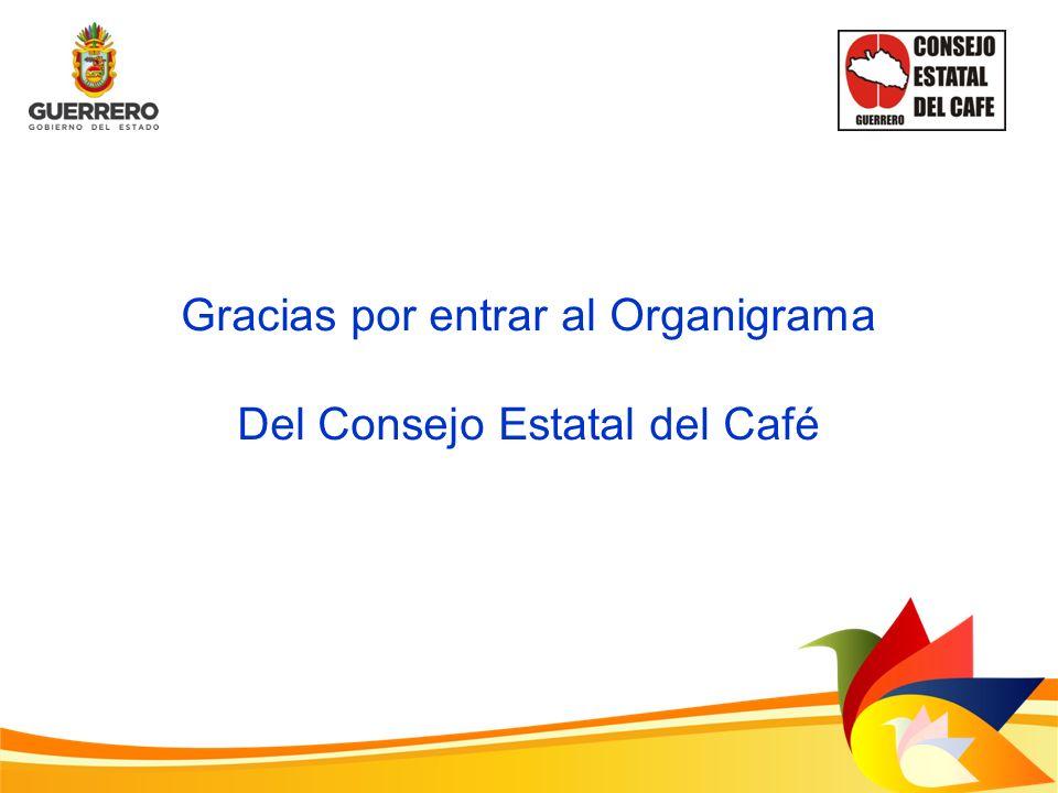 Gracias por entrar al Organigrama Del Consejo Estatal del Café