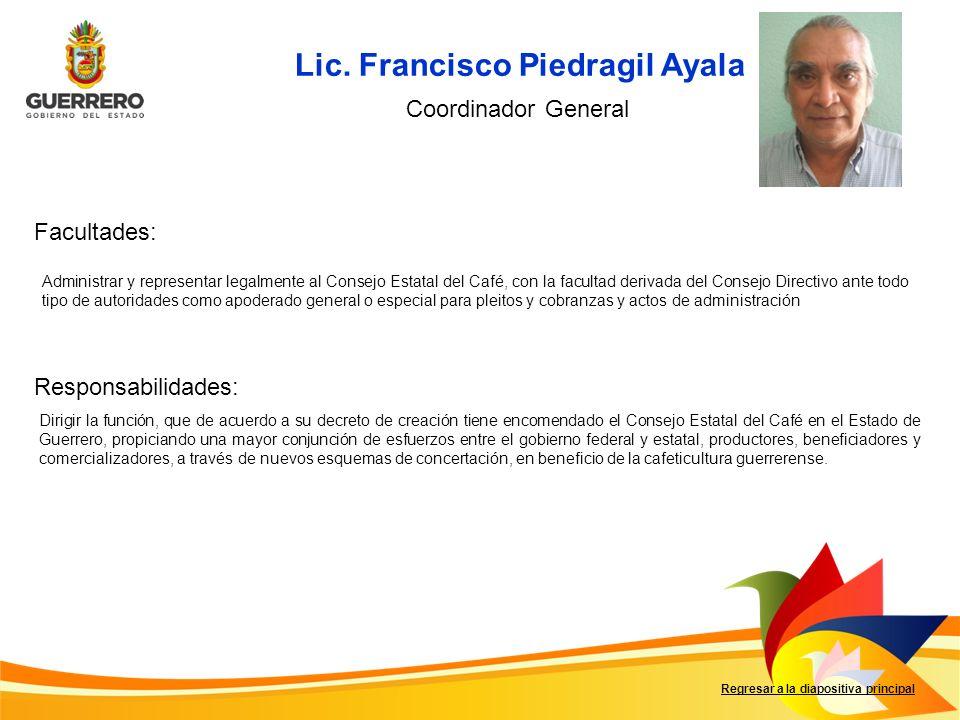 Lic. Francisco Piedragil Ayala