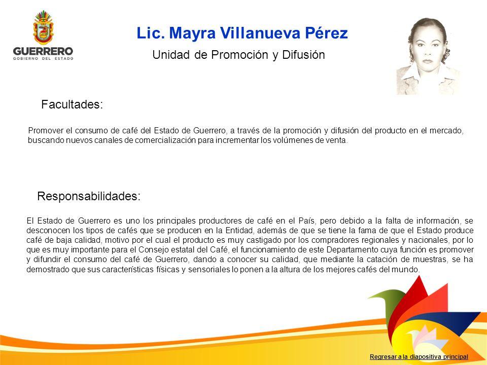 Lic. Mayra Villanueva Pérez