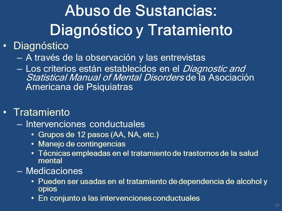 Abuso de Sustancias: Diagnóstico y Tratamiento