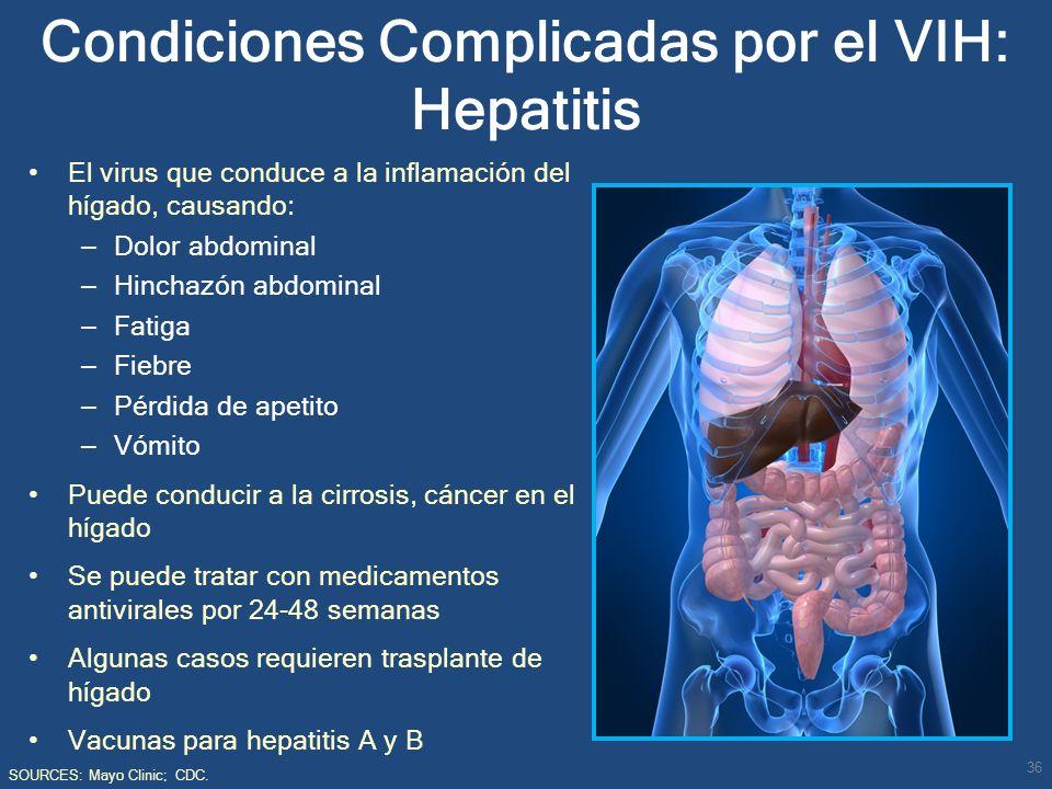 Condiciones Complicadas por el VIH: Hepatitis