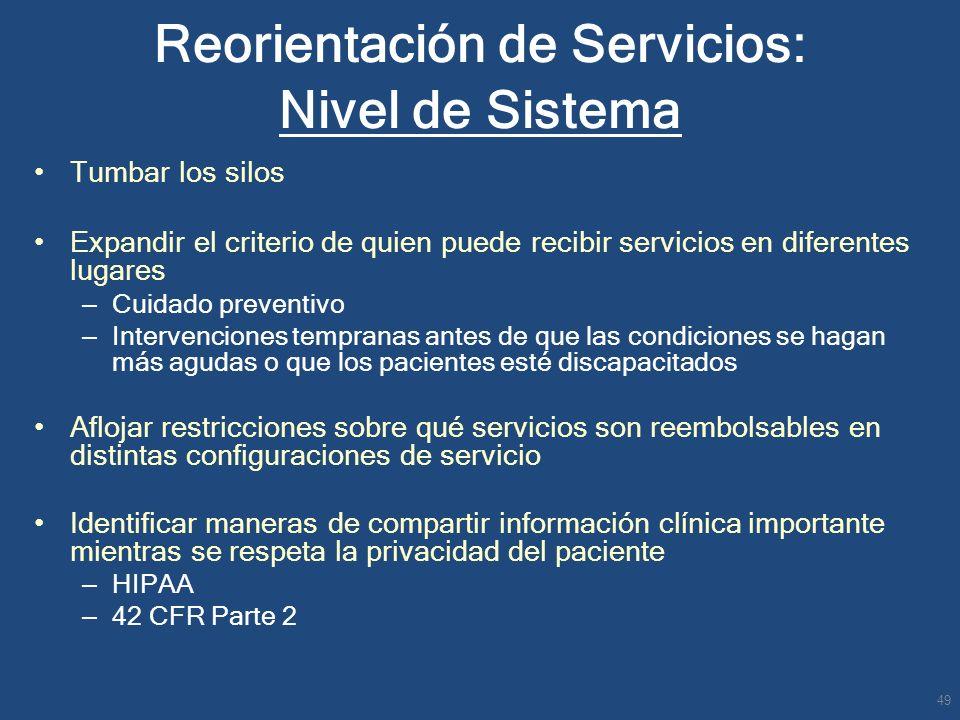 Reorientación de Servicios: Nivel de Sistema