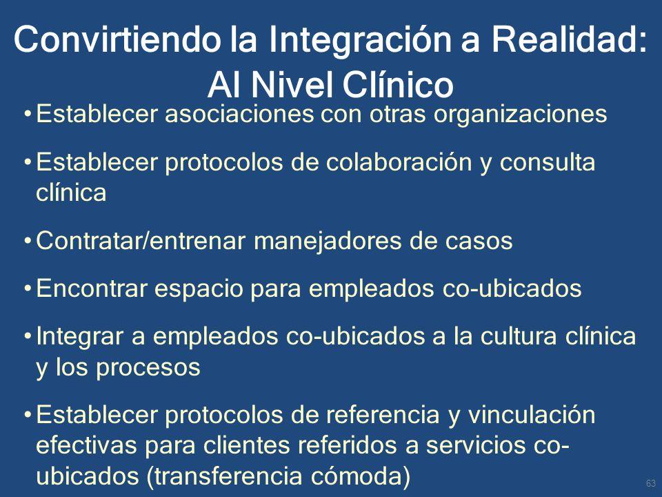 Convirtiendo la Integración a Realidad: Al Nivel Clínico