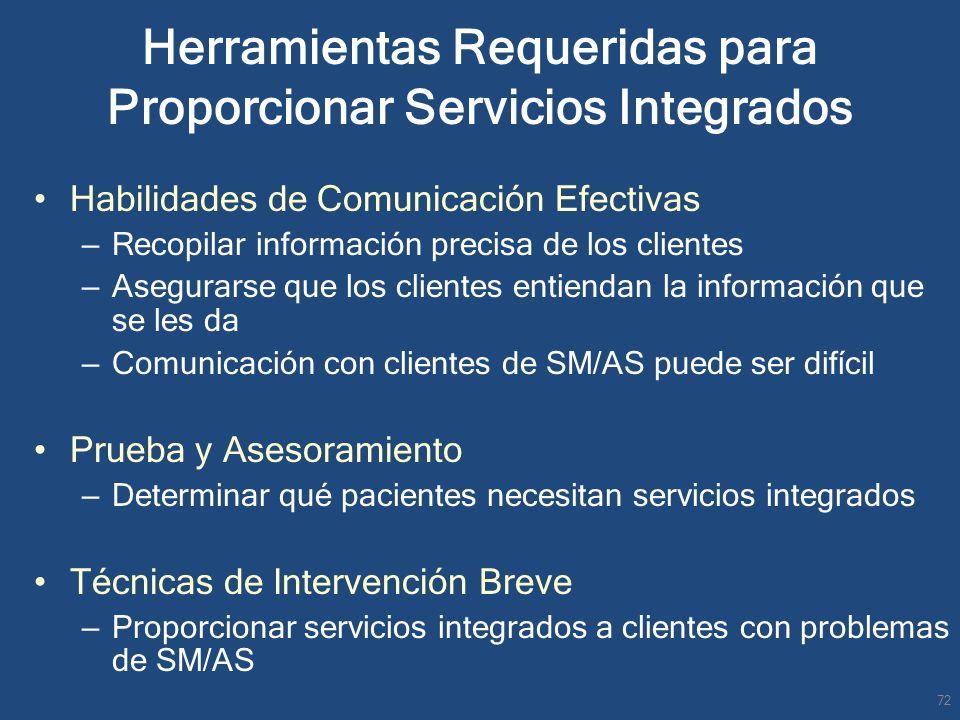 Herramientas Requeridas para Proporcionar Servicios Integrados