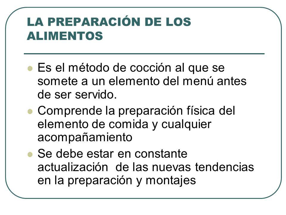 LA PREPARACIÓN DE LOS ALIMENTOS