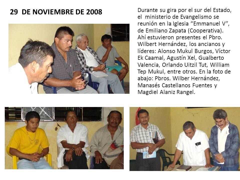 29 DE NOVIEMBRE DE 2008