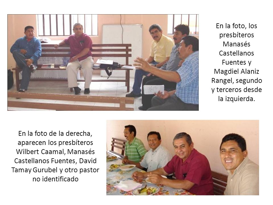 En la foto, los presbíteros Manasés Castellanos Fuentes y Magdiel Alaniz Rangel, segundo y terceros desde la izquierda.