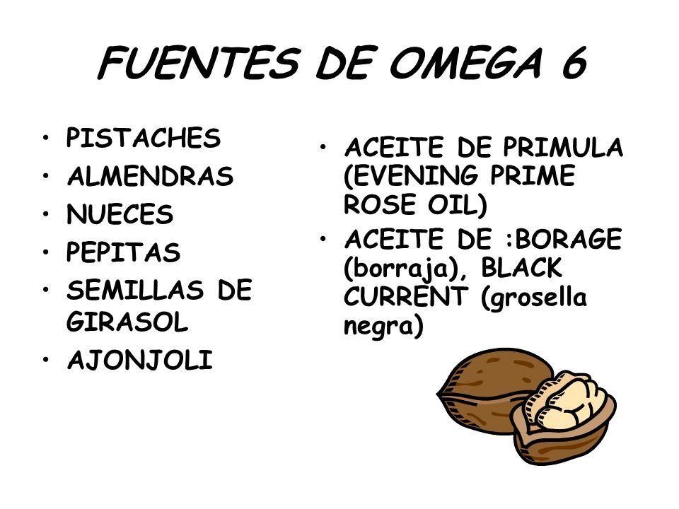 FUENTES DE OMEGA 6 PISTACHES