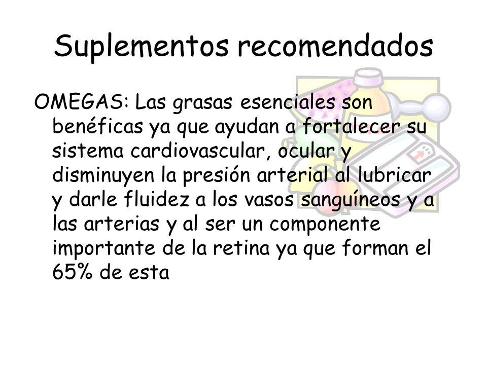 Suplementos recomendados