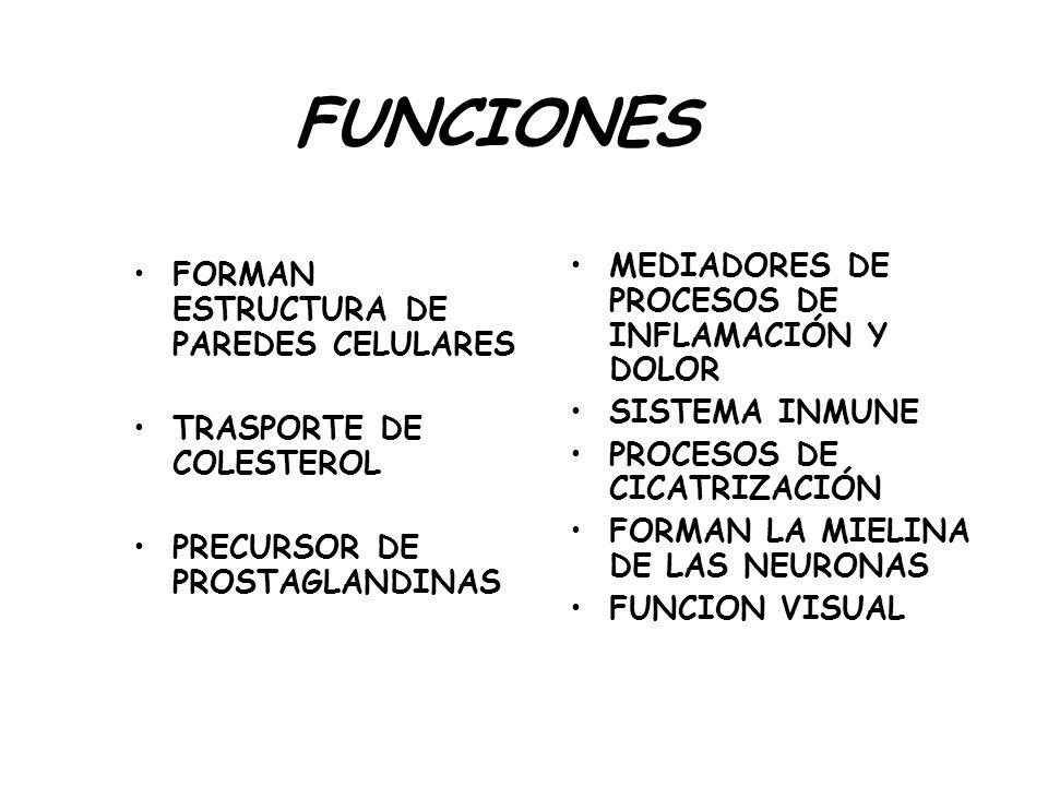 FUNCIONES MEDIADORES DE PROCESOS DE INFLAMACIÓN Y DOLOR