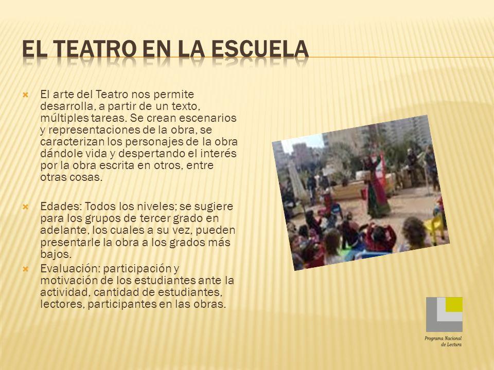 El teatro en la escuela Programa Nacional de Lectura