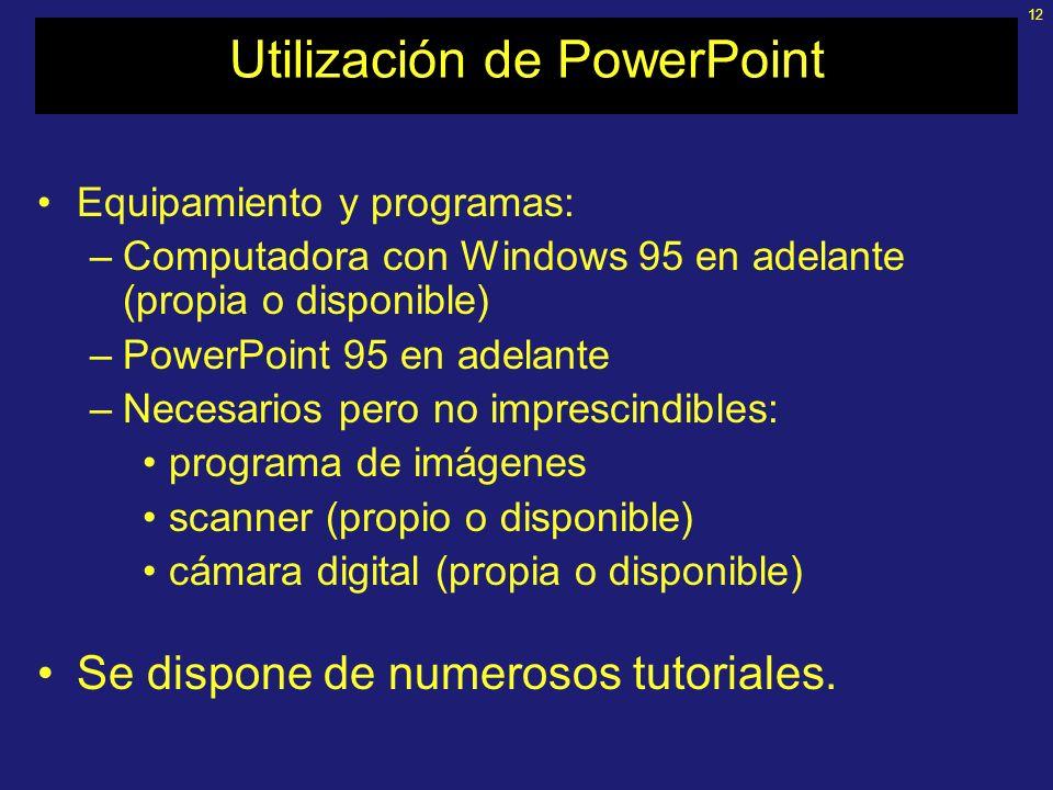 Utilización de PowerPoint