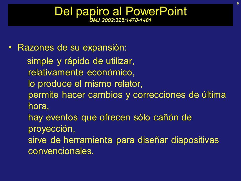 Del papiro al PowerPoint BMJ 2002;325:1478-1481