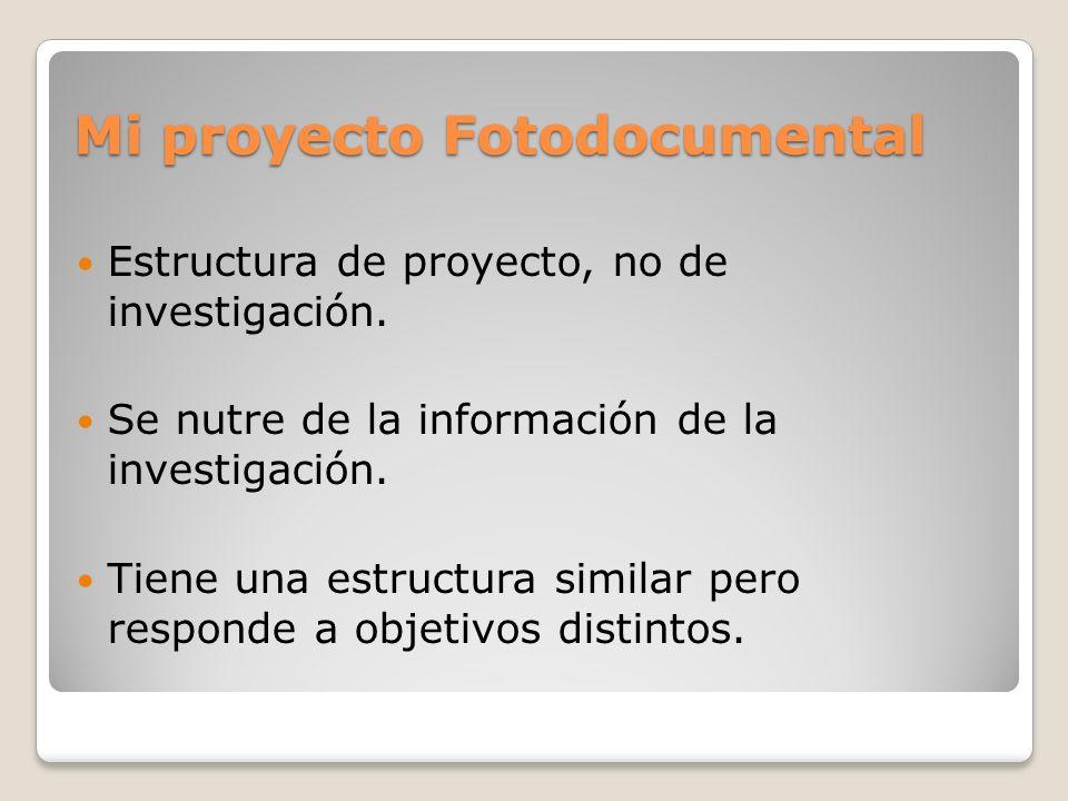 Mi proyecto Fotodocumental