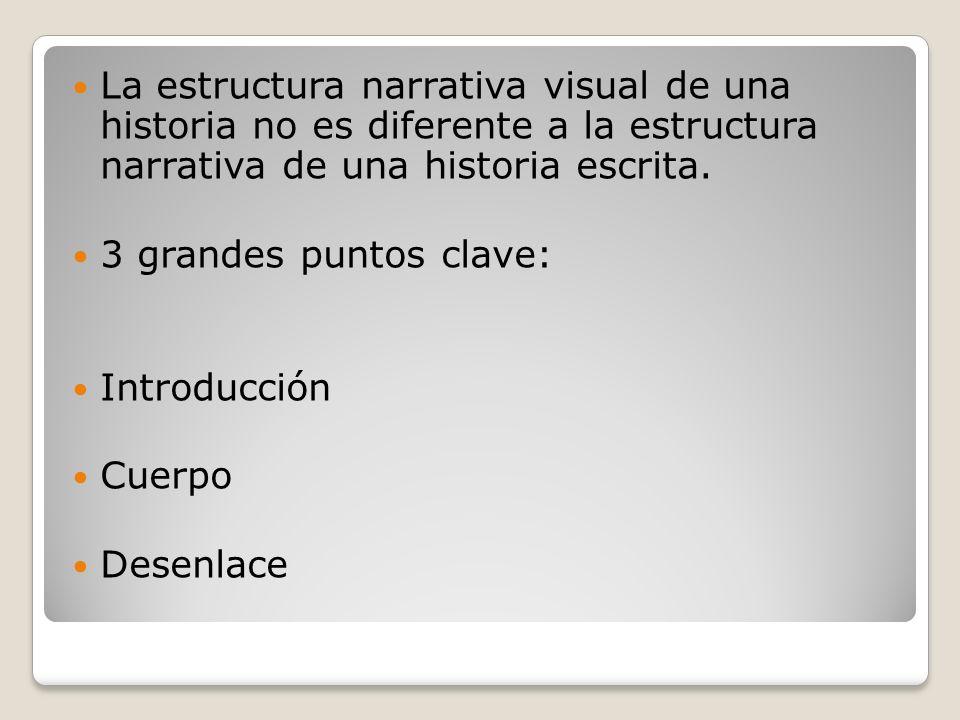 La estructura narrativa visual de una historia no es diferente a la estructura narrativa de una historia escrita.
