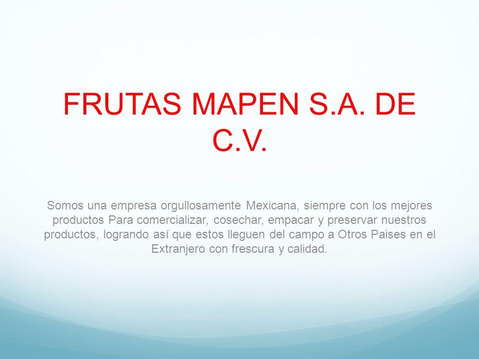 FRUTAS MAPEN S.A. DE C.V.