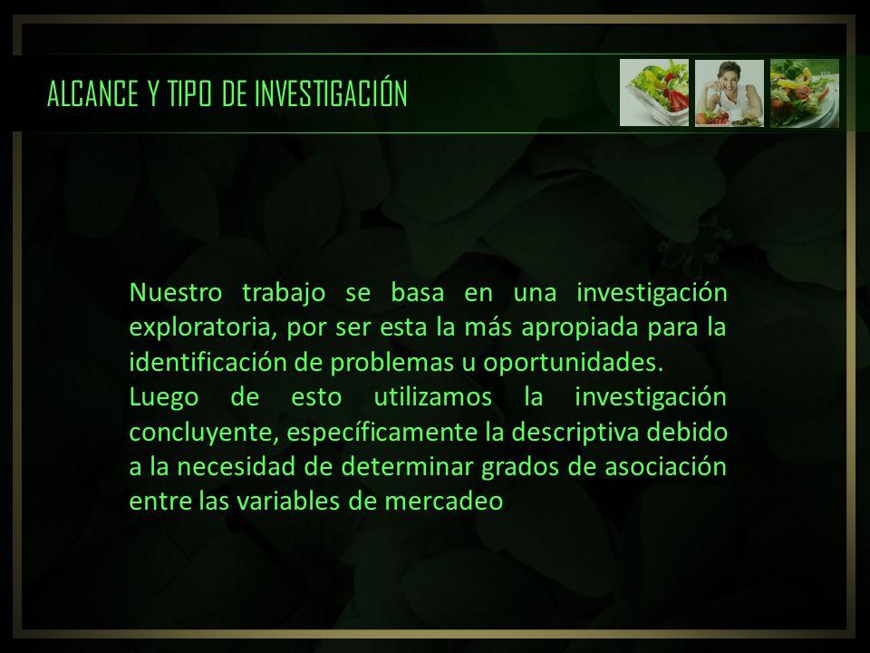 ALCANCE Y TIPO DE INVESTIGACIÓN