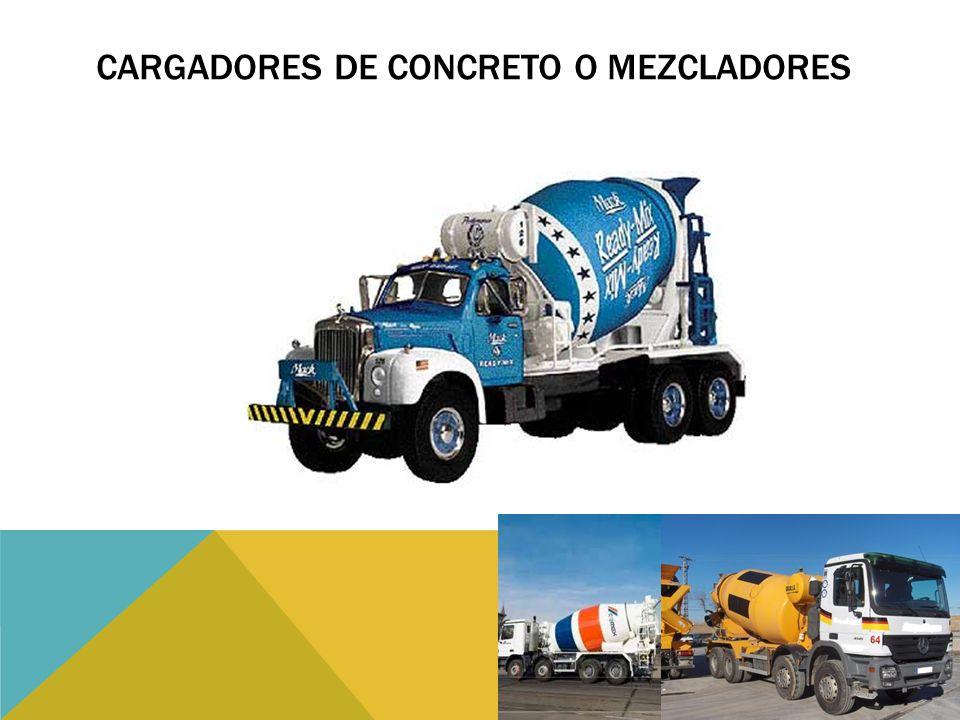 Cargadores de concreto o mezcladores