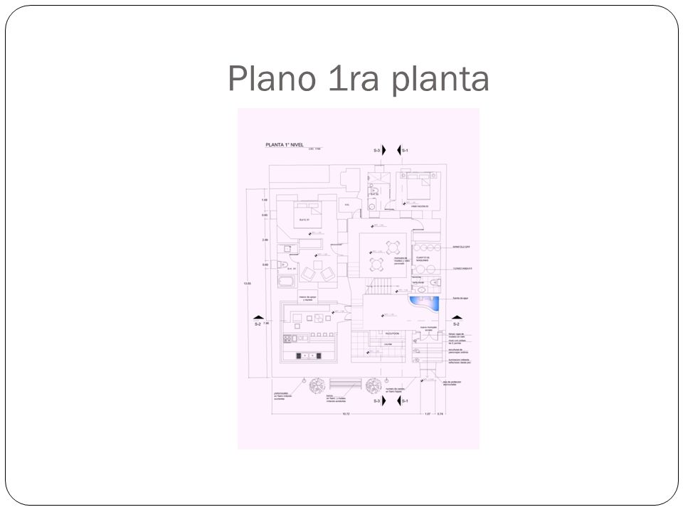 Plano 1ra planta