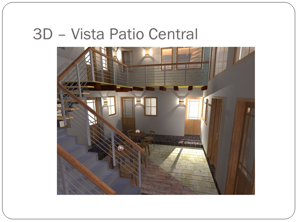 3D – Vista Patio Central
