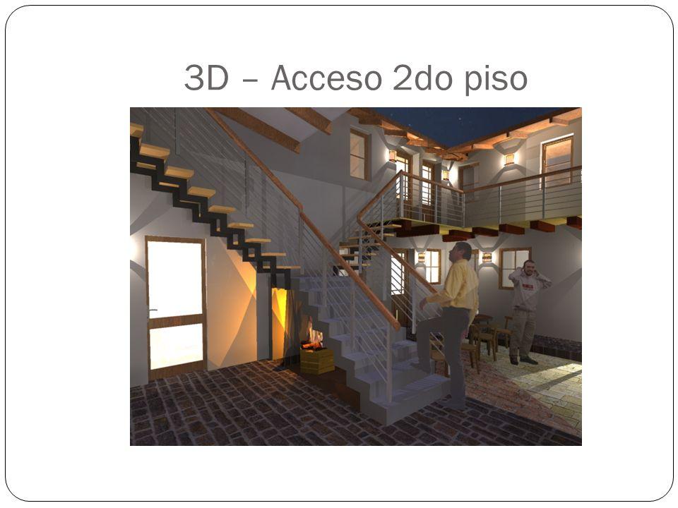 3D – Acceso 2do piso
