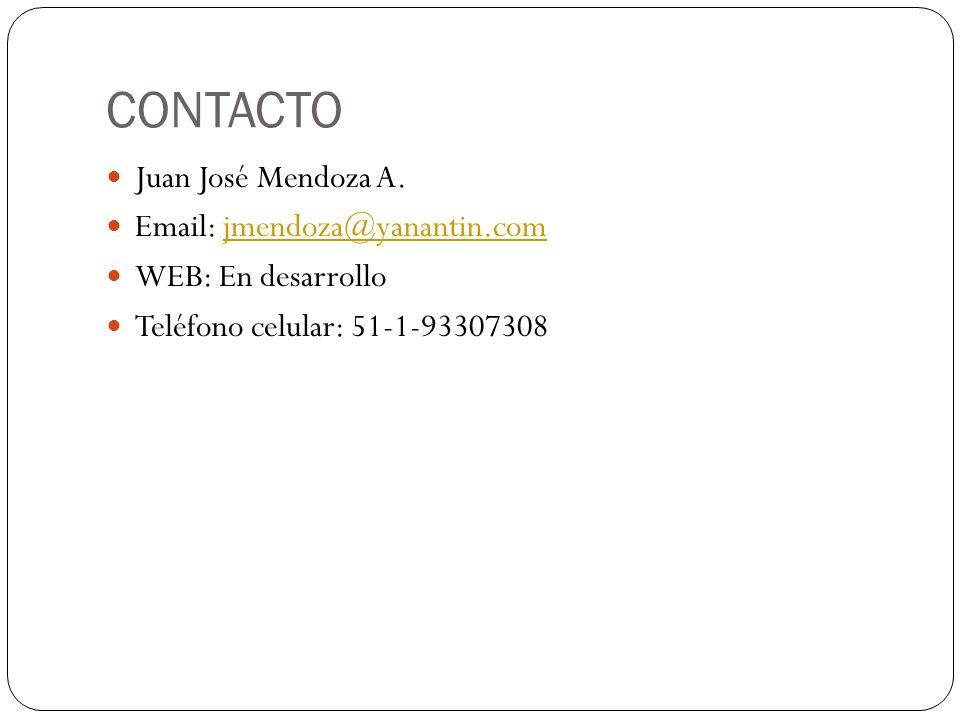 CONTACTO Juan José Mendoza A.