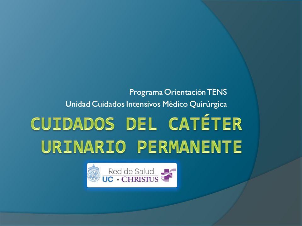 CUIDADOS DEL CATÉTER URINARIO PERMANENTE