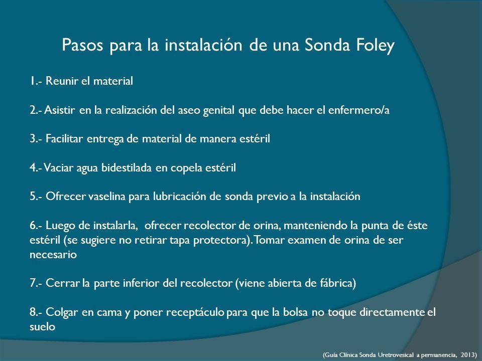 Pasos para la instalación de una Sonda Foley