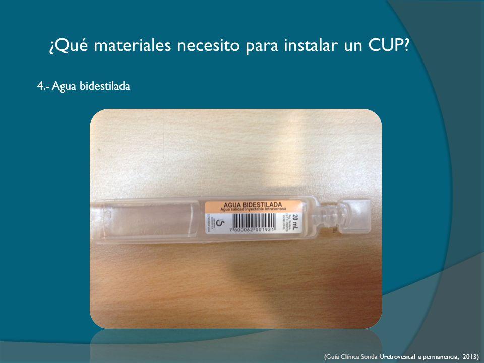 ¿Qué materiales necesito para instalar un CUP