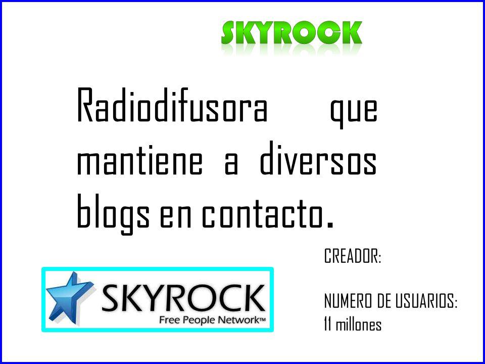 Radiodifusora que mantiene a diversos blogs en contacto.