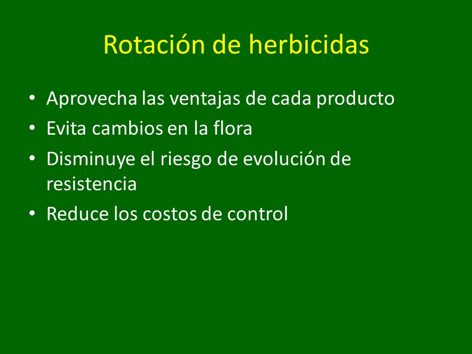 Rotación de herbicidas