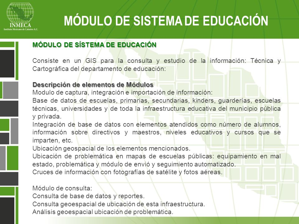 MÓDULO DE SISTEMA DE EDUCACIÓN