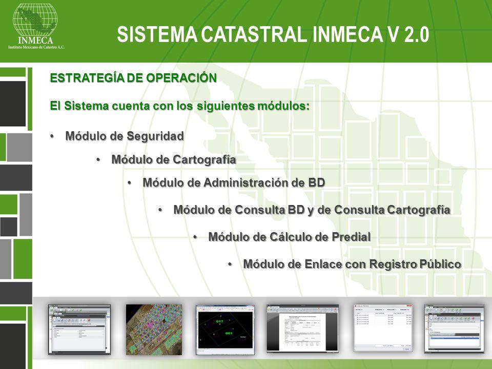 ESTRATEGÍA DE OPERACIÓN El Sistema cuenta con los siguientes módulos: