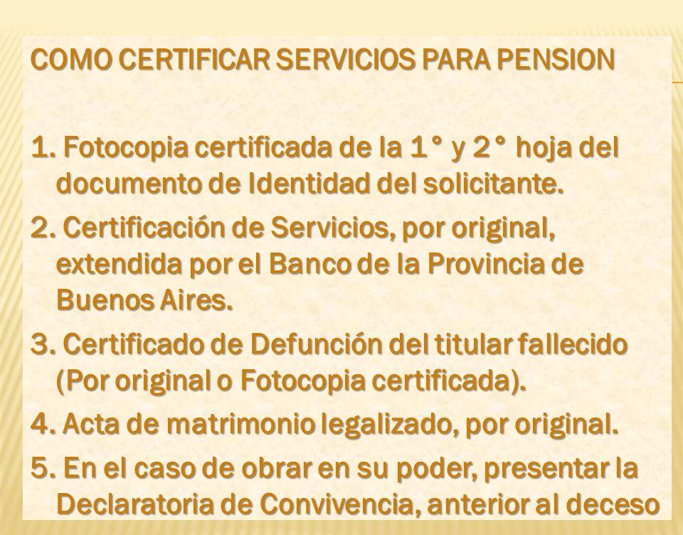 COMO CERTIFICAR SERVICIOS PARA PENSION