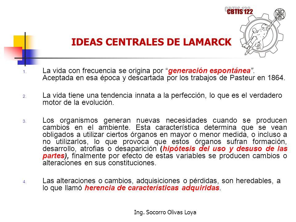 IDEAS CENTRALES DE LAMARCK