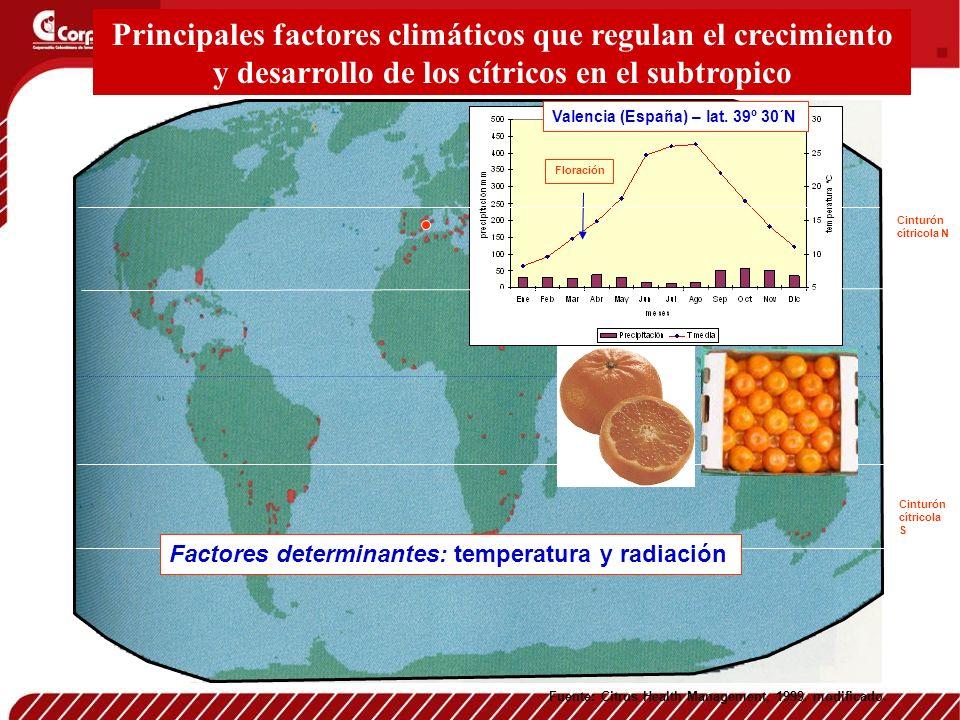 Principales factores climáticos que regulan el crecimiento y desarrollo de los cítricos en el subtropico