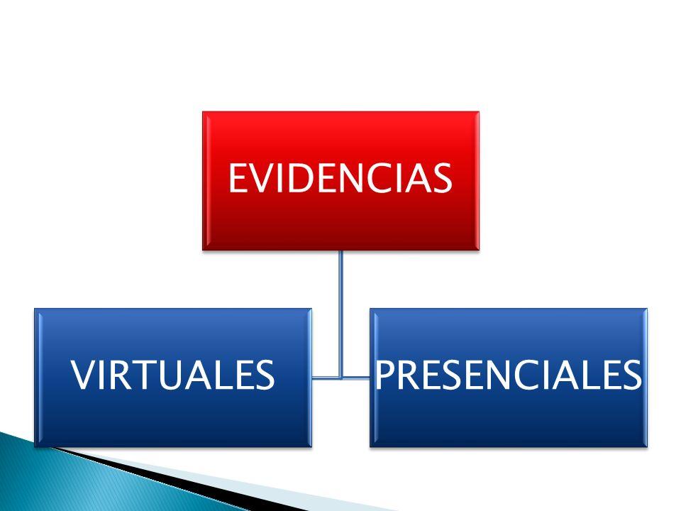 EVIDENCIAS VIRTUALES PRESENCIALES
