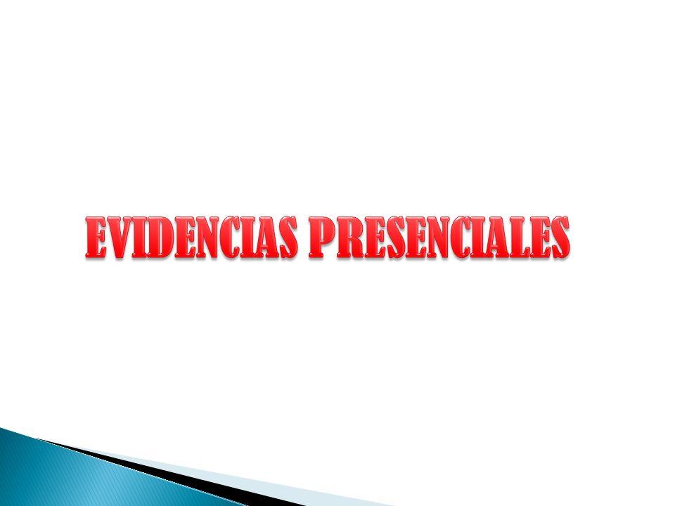 EVIDENCIAS PRESENCIALES