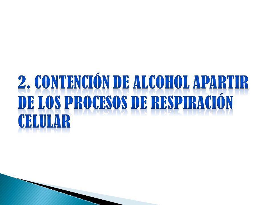 2. CONTENCIÓN DE ALCOHOL APARTIR DE LOS PROCESOS DE RESPIRACIÓN CELULAR