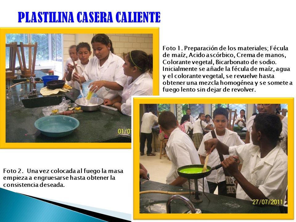 PLASTILINA CASERA CALIENTE
