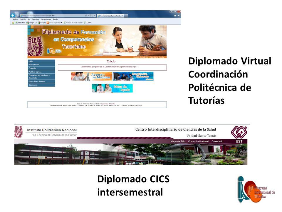 Diplomado Virtual Coordinación Politécnica de Tutorías Diplomado CICS intersemestral