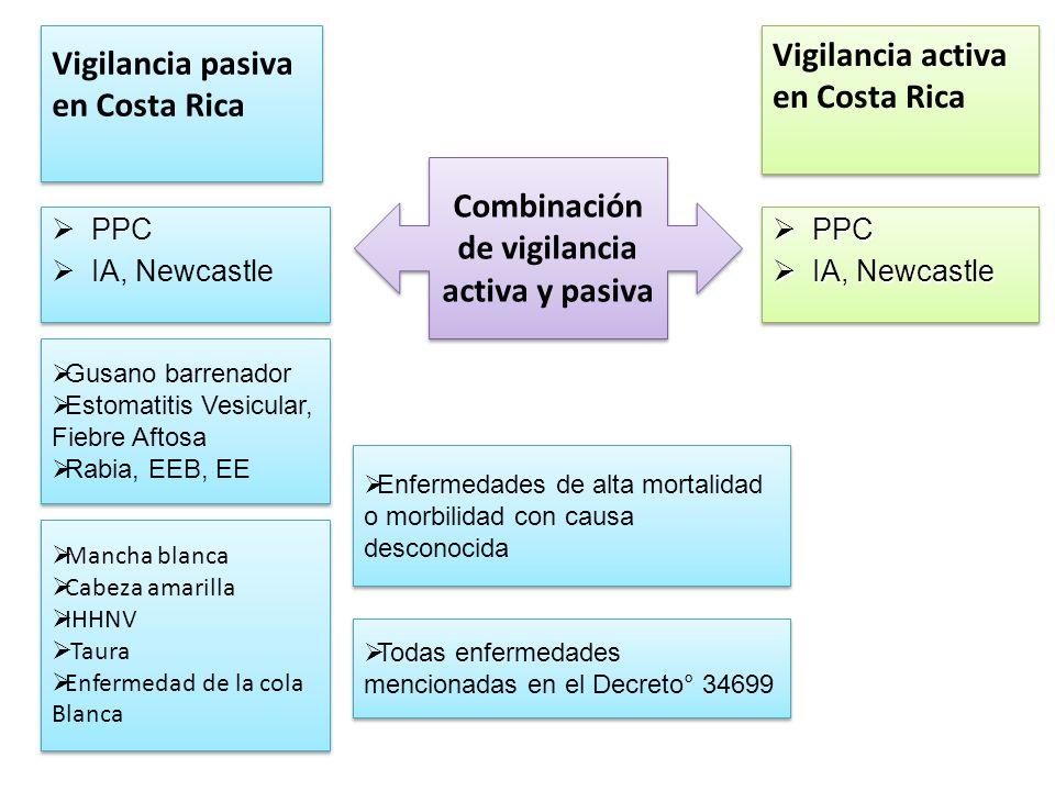 Combinación de vigilancia activa y pasiva