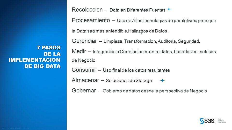 7 pasos de la implementacion de biG data