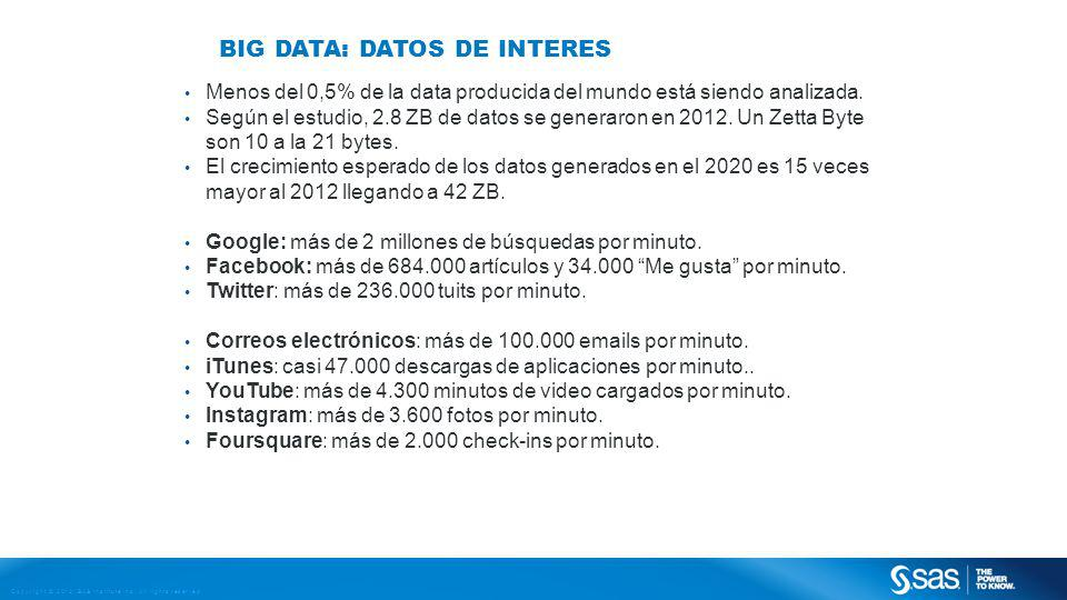 Big Data: Datos de interes