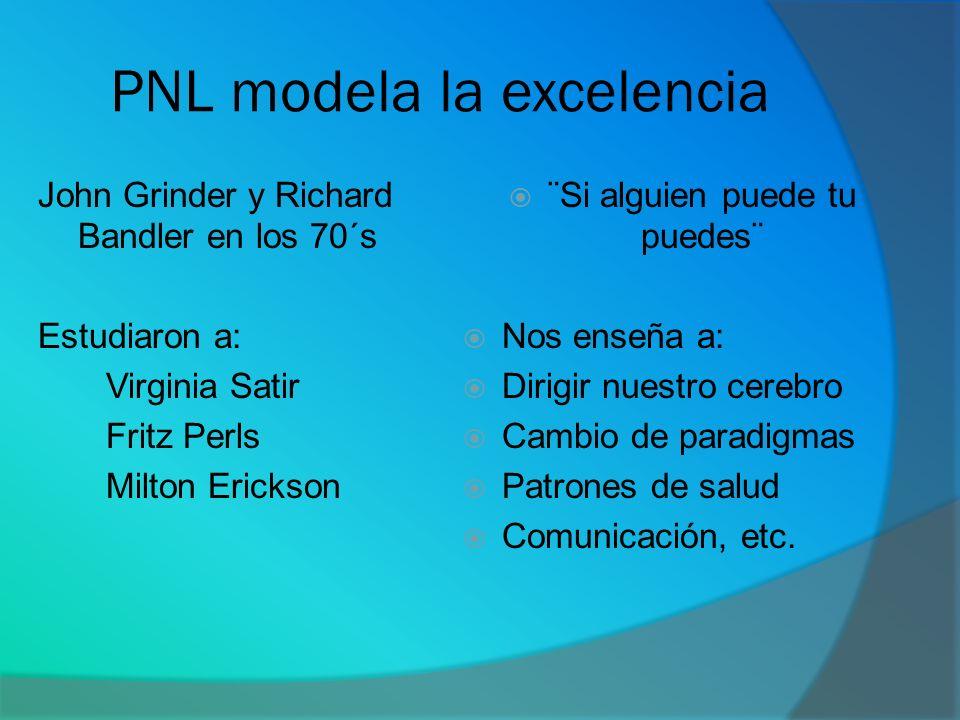 PNL modela la excelencia