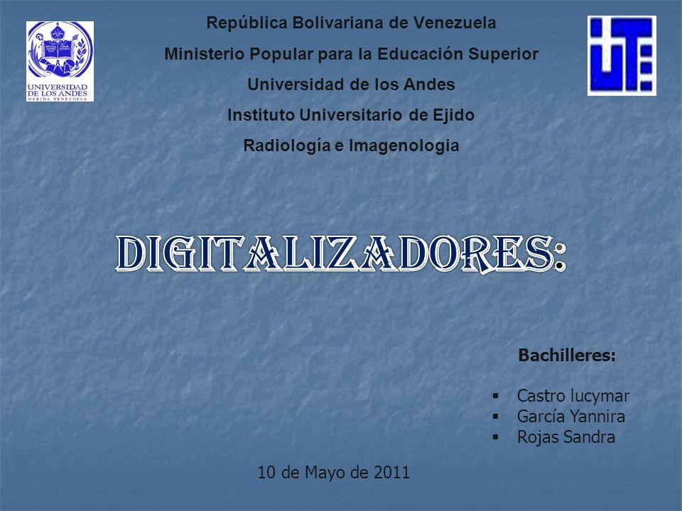 República Bolivariana de Venezuela Ministerio Popular para la Educación Superior Universidad de los Andes Instituto Universitario de Ejido Radiología e Imagenologia