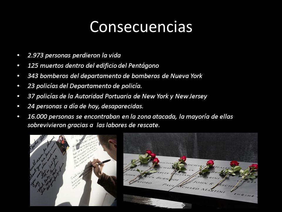Consecuencias 2.973 personas perdieron la vida